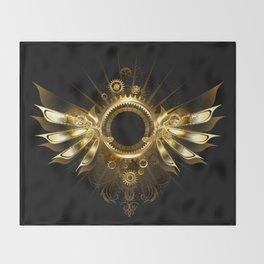 Mechanical Wings ( Steampunk Wings ) Throw Blanket