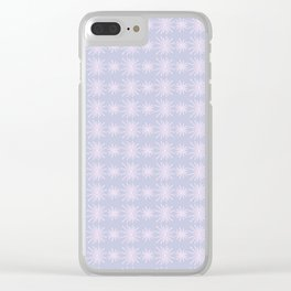 Cotton Candy Snowflake Lavender Purple and Soft Pink Design Pattern Clear iPhone Case