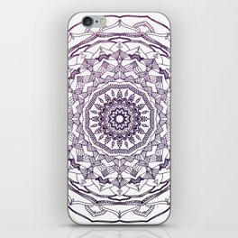 Purple Mandala iPhone Skin