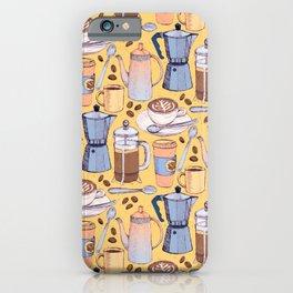 Coffee Love on Yellow iPhone Case