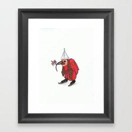 Bird With Letter Framed Art Print
