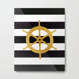 Ship Wheel Metal Print