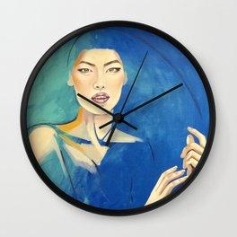 Oriental silk Wall Clock