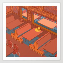 Dots Cafe, Portland Oregon Art Print