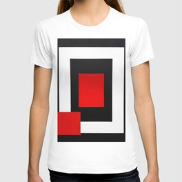 Geometric Abstraction - Red T-shirt