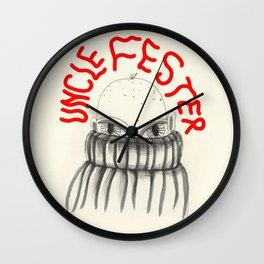 Uncle Fester Wall Clock
