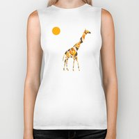 giraffe Biker Tanks featuring Giraffe  by fly fly away