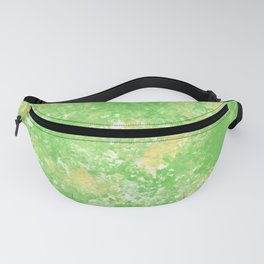 Yellow green spring Camo print Fanny Pack