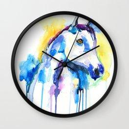 WATERCOLOR HORSE Wall Clock