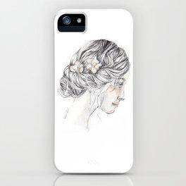 romantic girl iPhone Case