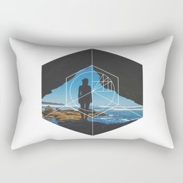 Paradise Cove Girl - Geometric Photography Rectangular Pillow