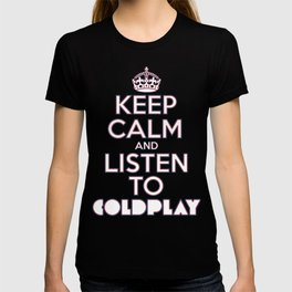 """Keep Calm and Listen to Coldplay""-Union Jack T-shirt"
