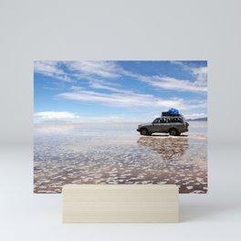 Driving in a Mirror Mini Art Print