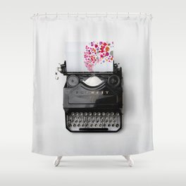 Typing Joy Shower Curtain