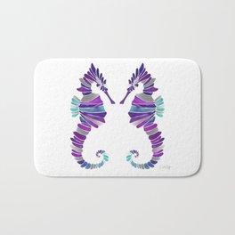 Seahorse – Purple & Silver Bath Mat