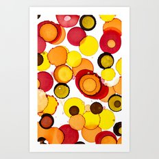 Colour splash Art Print