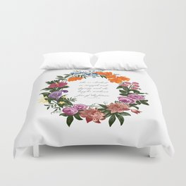 She is Clothed in Dignity and Strength and She Laughs without Fear of the Future Duvet Cover