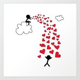 Love from the sky by Oliver Henggeler Art Print