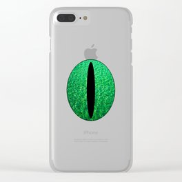 Cat's Eye-Green Clear iPhone Case