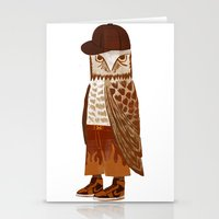 hip hop Stationery Cards featuring Hip Hop Owl by Santiago Uceda