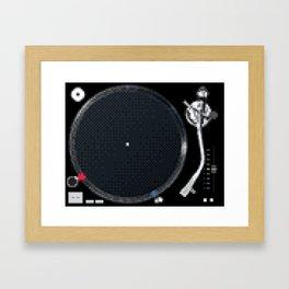 8 Bit Technics SL-1210MK5 Framed Art Print