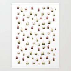 pink terrariums Art Print
