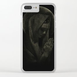Pray for us Clear iPhone Case