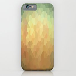 Nature's Glowing Geometric Abstract iPhone Case
