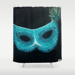 Peacock Masquerade Shower Curtain