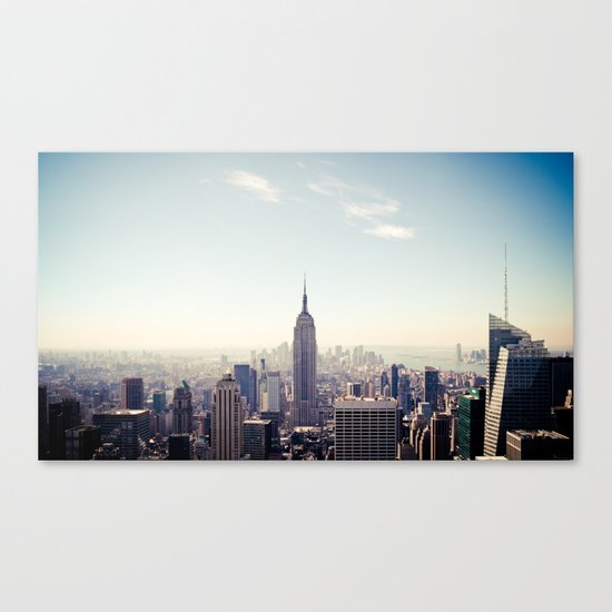 Manhattan - Empire State Building Pano | colored Canvas Print