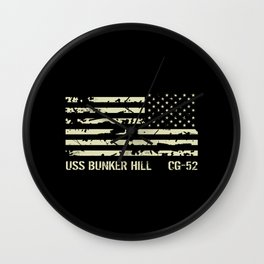 USS Bunker Hill Wall Clock