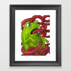 Frogs eat Insects Framed Art Print