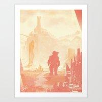 dragon age Art Prints featuring Dragon Age: Varric by Sara Cuervo