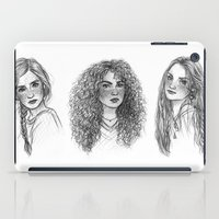 hermione iPad Cases featuring Ginny, Hermione & Luna by Susanne