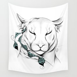 Poetic Cougar Wall Tapestry