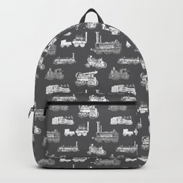 Antique Steam Engines // Charcoal Grey Backpack