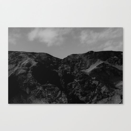 Iceland BW Canvas Print