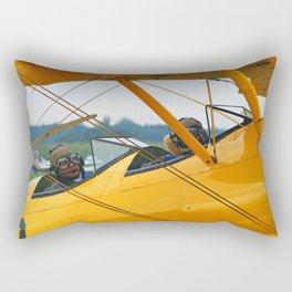 Oldtimer yellow plane Rectangular Pillow