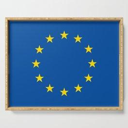 European's flag Serving Tray