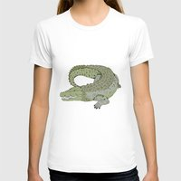 crocodile T-shirts featuring Crocodile by Melrose Illustrations