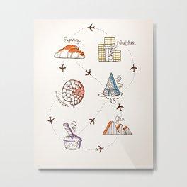 Sweet Travel Metal Print