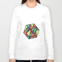hexagon Long Sleeve T-shirts featuring Hexagon by chrfahnestock