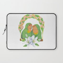 The lovebirds Song of Love Laptop Sleeve