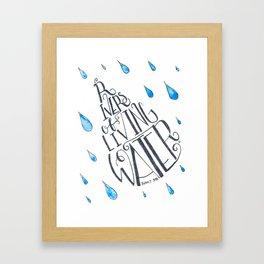 rivers of living water Framed Art Print