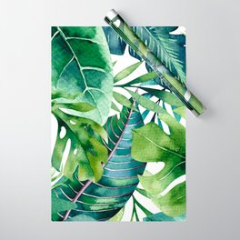 Tropical Jungle Leaves Wrapping Paper