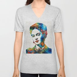 Frida Kahlo Art - Viva La Frida - By Sharon Cummings Unisex V-Neck
