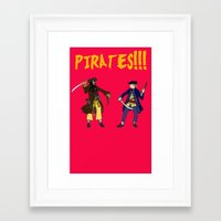 pirates Framed Art Prints featuring Pirates!!! by Michael Keene