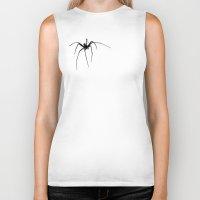 spider Biker Tanks featuring Spider by Laura