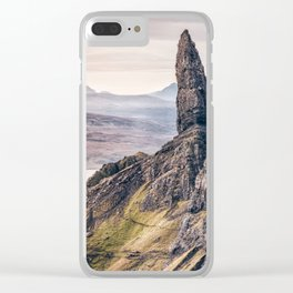 Old Man of Storr, Isle of Skye, Scotland Clear iPhone Case