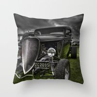 ford Throw Pillows featuring Vintage Ford by Nicola Lee